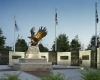 Veterans are honored with an iconic memorial.