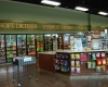 The retail store offers a wide mix of products in a pleasing and spacious environment
