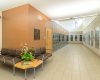 The lobby provides a pleasing environment for visitors considering adopting a new pet.