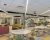 The commons doubles as a space for meals, collaboration and learning