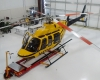 Large bay houses the LifeFlight Eagle helicopter and other work functions