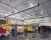 Four drive-through apparatus bays accommodate the Fire Dept. mix of apparatus