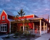 Exterior view of the Corner Café in Riverside and its trademark look and feel