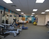 Exercise area provides flexibility for the full range of treatment and related equipment