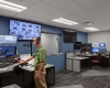 The dispatch center dispatches for fire and police
