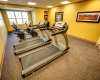 The fitness room provides a convenient exercise area