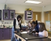 Science classrooms and lab space were updated to meet the district's standards