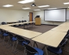 A training room provides space and technology to meet a variety of education needs