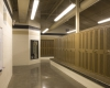 Interior view of the locker room space.