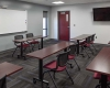 A large training room accommodates classroom needs for both departments