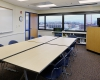 A multipurpose room provides a versatile setting for training needs