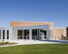 WSKF Architects designed a modernized entrance and exterior look and feel for the 1940s-era building