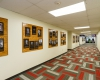 Refinished hallway connecting Admissions and adjacent Student Services