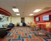A newly redesigned lounge greets visitors to the Jewell Building and Admissions