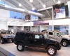 The showroom environment reinforces the vehicle's ruggedness and versatility