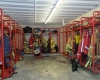 An enclosed gear storage room sits just off the apparatus bays