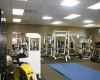 A large physical training room gives recruits and officers access to a wide variety of fitness equipment