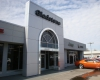 The dealership's new façade integrated the current Chrysler/Dodge/Jeep/RAM branding