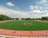 The soccer field is a regulation pitch meeting FIFA standards