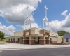 The 8,500-sq-ft facility houses worship space, classrooms, kitchen and other functions