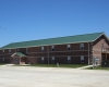 The dorm was specially designed to meet the housing needs of the College's Rodeo Team