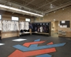 Interior view of the Blue Devils' locker room
