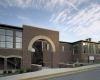 New main entrance of renovated and expanded Scruggs Student Center.