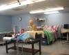 Skills lab recreates a working health care environment.