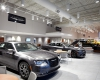 The interior design showcases the Chrysler family of vehicle brands