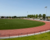 View of 8-lane, 400-meter all weather track, new lighting and seating