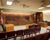 The courtrooms doubles as the City Council chambers