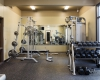 The fitness room provides space and equipment for the range of crew members' workout regimen