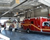 Three bays accommodate the District's fire and EMS apparatus