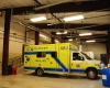 Interior view of the new EMS bays