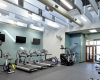 Staff of both departments share a common fully equipped fitness area