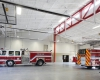 Four apparatus bays accommodate the mix of fire equipment with flexibility for future changes