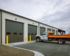 The new facility houses the City's full range of equipment and vehicles and staff offices and support spaces.