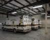 Interior view of the new EMS apparatus bays.